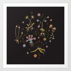 Flora of Planet Hinterland Art Print