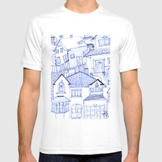 Hometown SMALL White Mens Fitted Tee