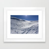 Tracks On Tincan Framed Art Print