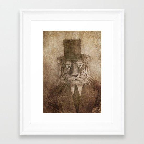 Sir Tiger Framed Art Print