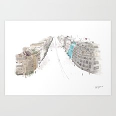 A street Art Print