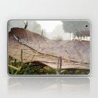 Dew Drops On A Fallen Le… Laptop & iPad Skin