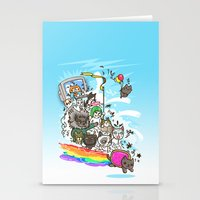 Release The Cats Stationery Cards