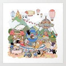 Tea cup ride! Art Print