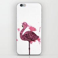 Flamingo Watercolor Prin… iPhone & iPod Skin