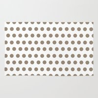 Beige Dots On White Rug