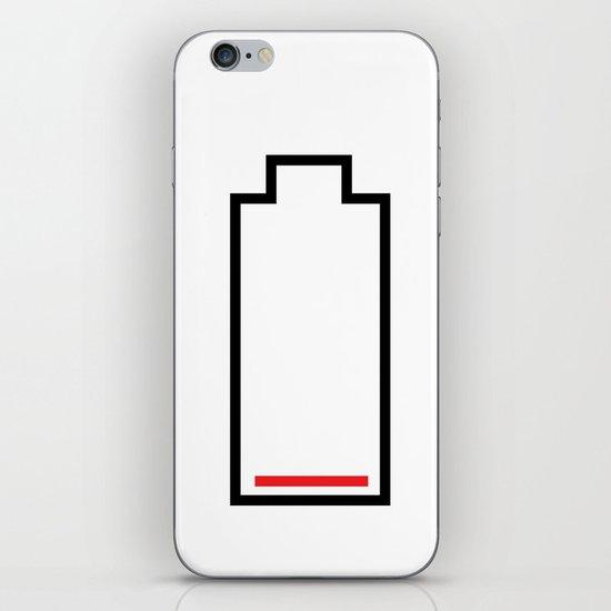 Empty Battery iPhone & iPod Skin