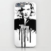 iPhone & iPod Case featuring Avengers in Ink: Black Widow by Rebecca Loomis