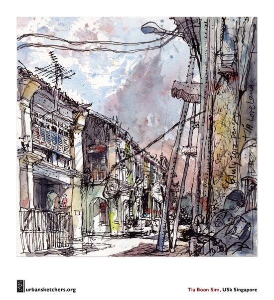 "Tia Boon Sim, ""The Love Lane, Penang, Malaysia""  Canvas Print"