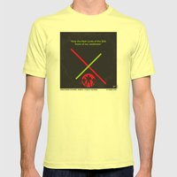 No224 My Star E-II minimal movie poster wars Mens Fitted Tee Lemon SMALL