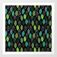 Modern Abstract Leaf Pat… Art Print