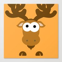 Minimal Moose Canvas Print