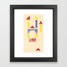 Blockitecture Two Framed Art Print