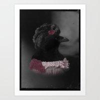 Miss Crow Art Print