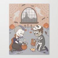 Halloween Love Canvas Print
