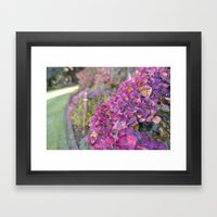 Autumn Flowers Framed Art Print