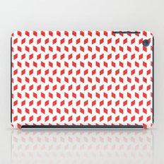 rhombus bomb in poppy red iPad Case