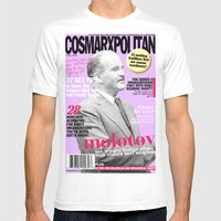 COSMARXPOLITAN, Issue 17 Mens Fitted Tee White SMALL