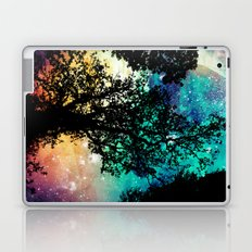 Black Trees Colorful Space Laptop & iPad Skin