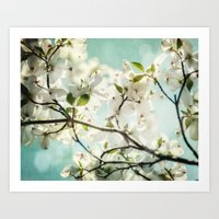 Under The Dogwood  Art Print