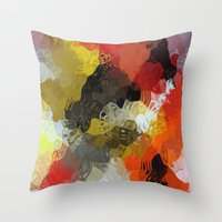 Fluidity #5 Throw Pillow