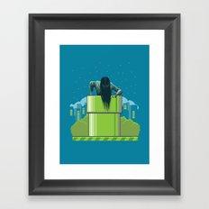 The wrong hole Framed Art Print