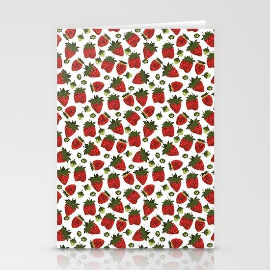 Strawberry Pattern Stationery Card
