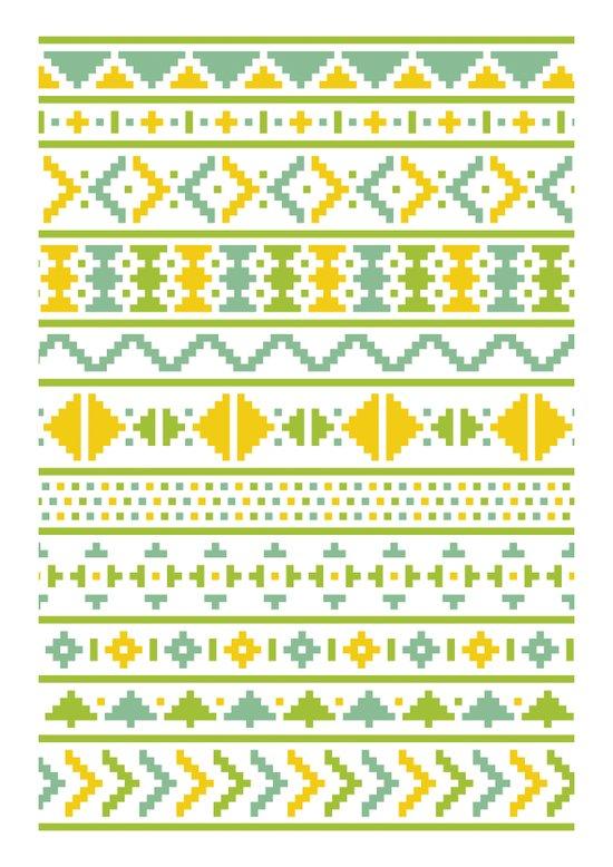 Christmas Jumper Pattern Art Print