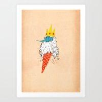 Ice King As An Ice Cream… Art Print