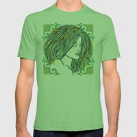 Mermaid Mens Fitted Tee Grass SMALL