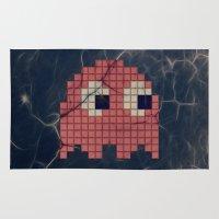 Pac-Man Pink Ghost Rug