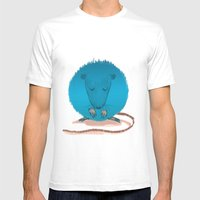 Mouseusus Mens Fitted Tee White SMALL