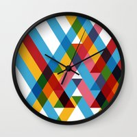 Ribbons Overlay ///www.p… Wall Clock