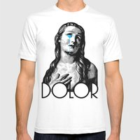 DOLOR Mens Fitted Tee White SMALL