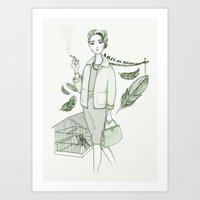 The Birds - Movies & Outfits Art Print