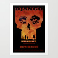 Django Unchained Alternate Movie Poster Art Print