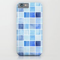 Blue Squares iPhone 6 Slim Case