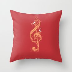 Natural Melody Throw Pillow