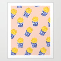 Floral Fries Art Print