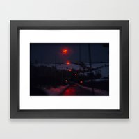 Lamps through Cabourne Framed Art Print