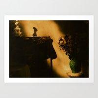 Eze golden light Art Print