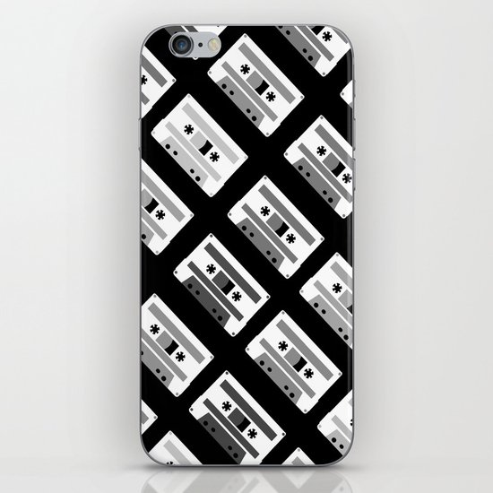 Black and White Tapes 45 iPhone & iPod Skin