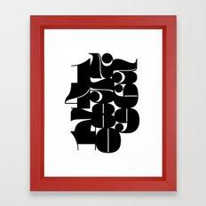 Numbers Black Framed Art Print