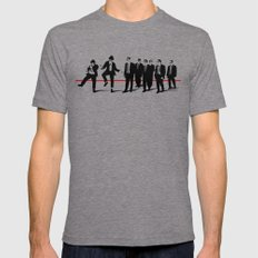 Reservoir Brothers Mens Fitted Tee Tri-Grey SMALL