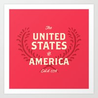 The United States Of Ame… Art Print