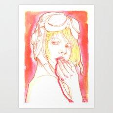 Aviator girl 002 Art Print