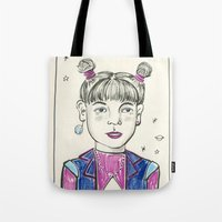 Super Nova Girl Tote Bag