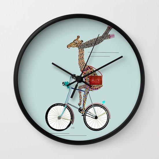 Giraffes School Days  Wall Clock