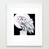 Mutant Owls Framed Art Print