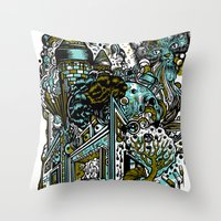 The Castle Of Doom And S… Throw Pillow